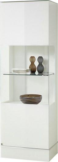 LEONARDO Glasvitrine »CUBE« mit Klarglas, wahlweise mit Beleuchtung, Höhe 192 cm
