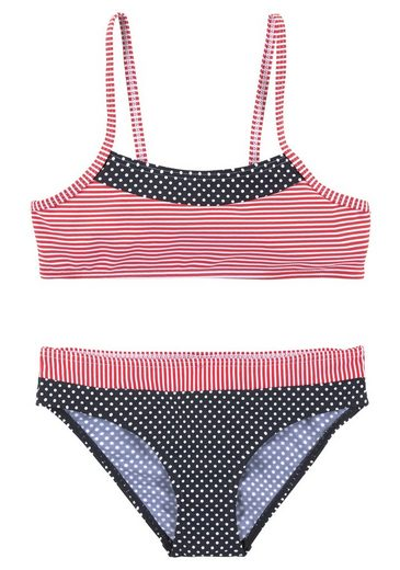 s.Oliver Beachwear Bustier-Bikini Im Streifen und Punkte Mix