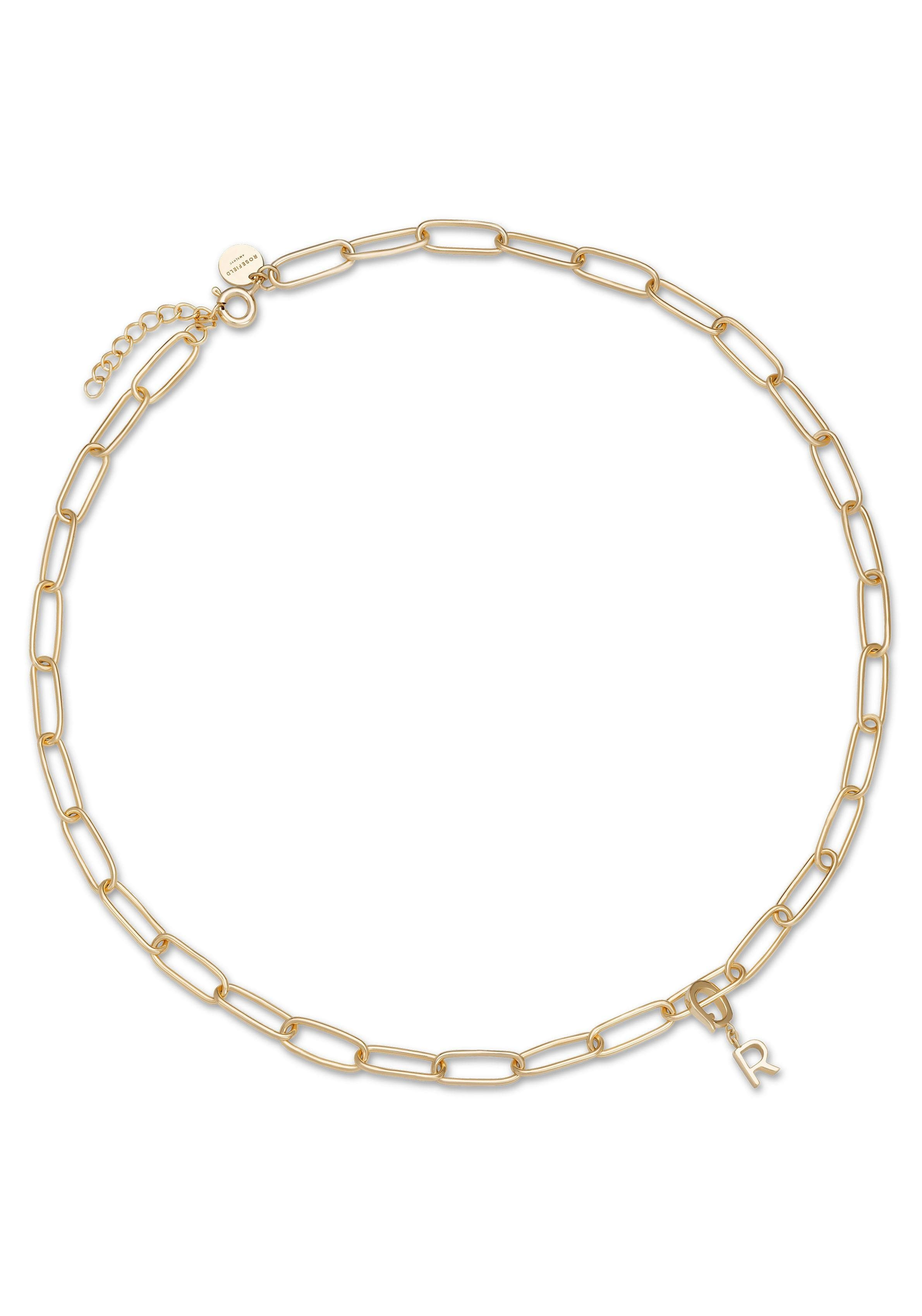 ROSEFIELD Charm-Kette »Initial chain necklace - Gold, JICNG-J019«