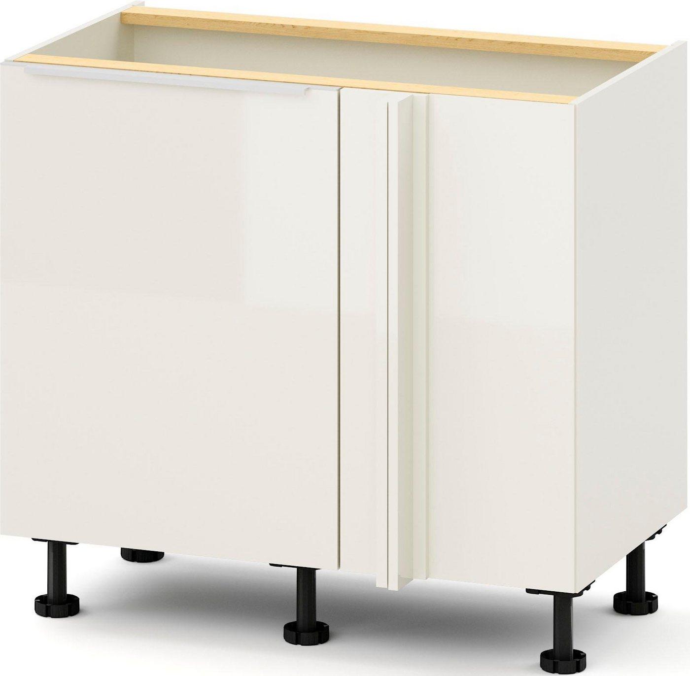 S+ by Störmer Eckunterschrank »Melle Premium« mit zwei LeMans Schwenkböden, vormontiert | Küche und Esszimmer > Küchenschränke > Küchen-Unterschränke | Weiß | S+ by Störmer