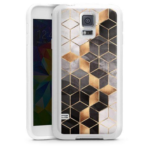 DeinDesign Handyhülle »Smoky Cubes« Samsung Galaxy S5, Hülle Elisabeth Fredriksson Würfel Muster