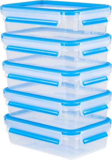 Emsa Frischhaltedose »Emsa Clip & Close«, Kunststoff, (Set, 10-tlg., 5 Vorratsdosen mit jeweils einem Deckel), 100% dicht, Made in Germany