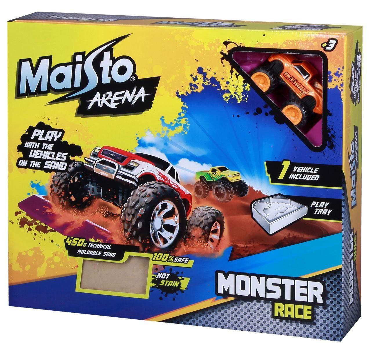 Sand-Spielset mit Fahrzeug, »Maisto® Arena Monster Race«
