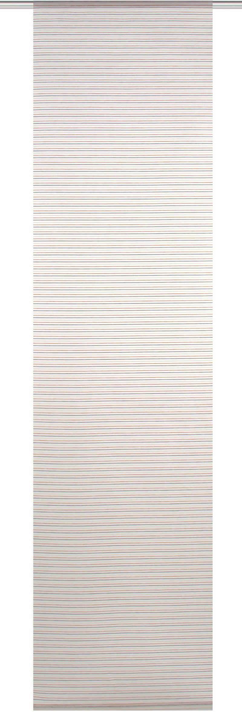 Schiebegardine »JÖRG«, HOME WOHNIDEEN, Klettband (1 Stück), HxB: 245x60, Bambus Querstreifen