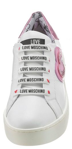 Love Hübscher Pailletten Moschino verzierung Mit Plateausneaker nAqYfwq4