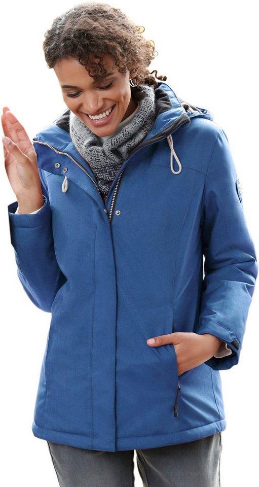 Damen Collection L. Jacke im dezenten Fischgrat-Muster blau | 08935267299688