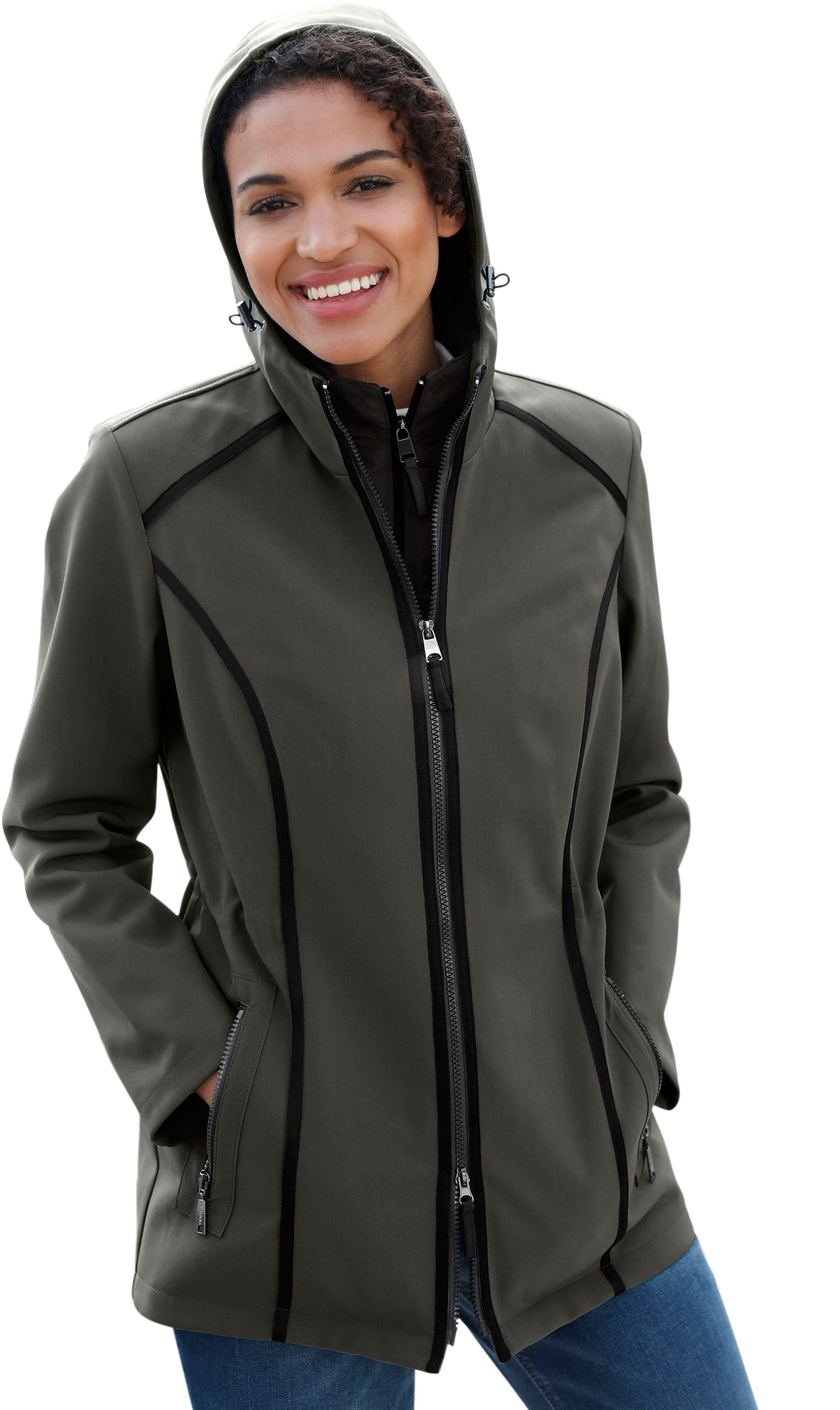 Casual Looks 2-in-1-Jacke aus Softshell