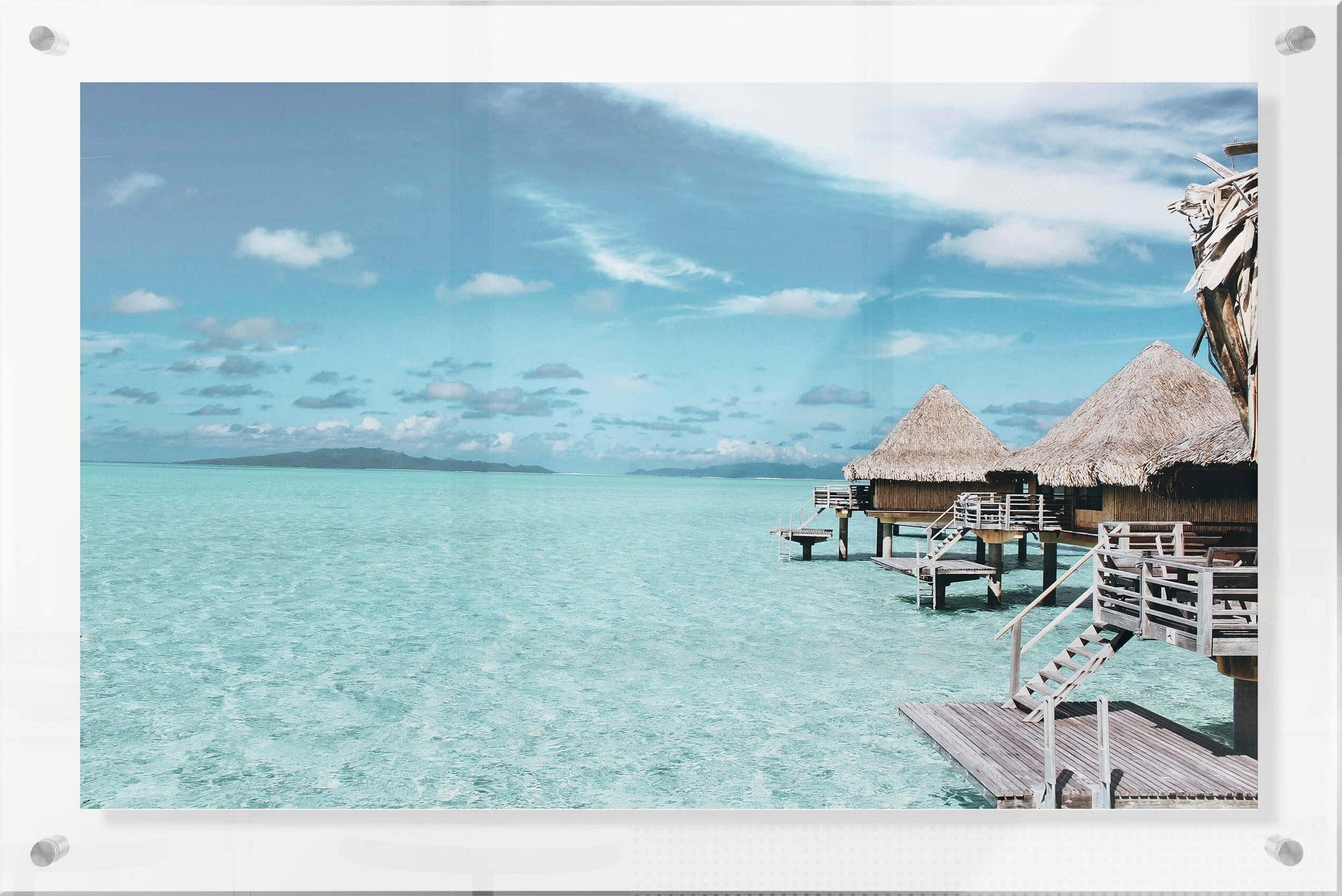 Acrylglasbild im Galeriestil »Urlaub auf den Malediven«, 98/0,5/68 cm