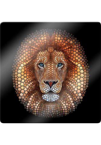 Stiklinis paveikslas »Löwe«