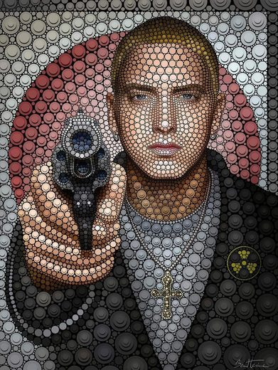 Wall-Art Poster »Eminem«