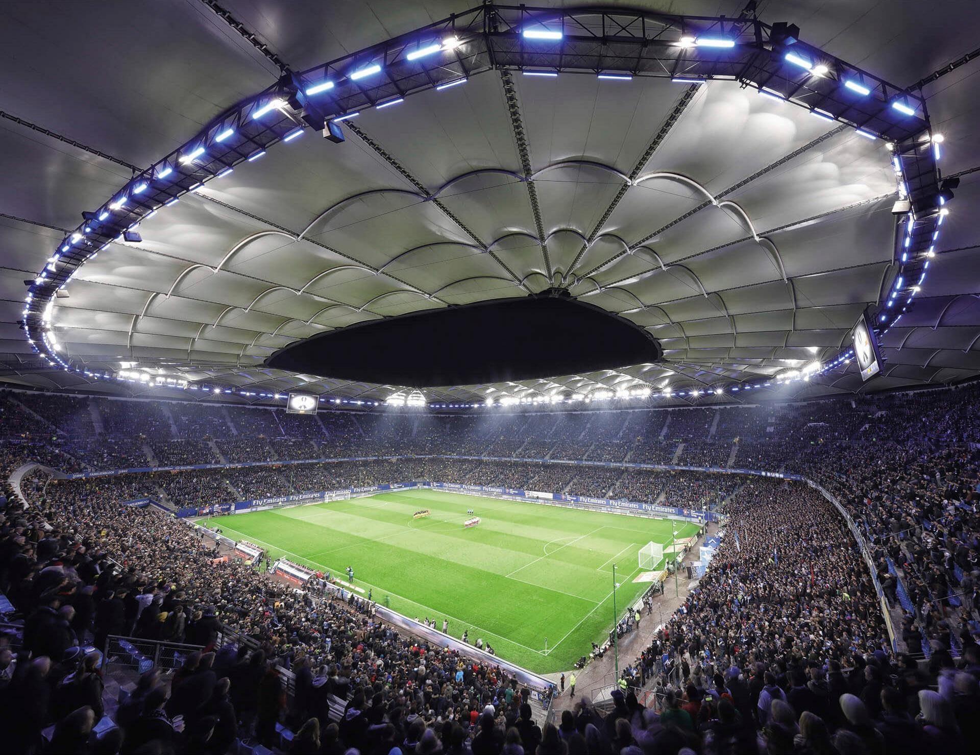 Fototapete »Hamburger SV im Stadion bei Nacht«, 336/260 cm