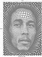 Vliestapete »Ben Heine Circlism: Bob Marley«, Bild 3
