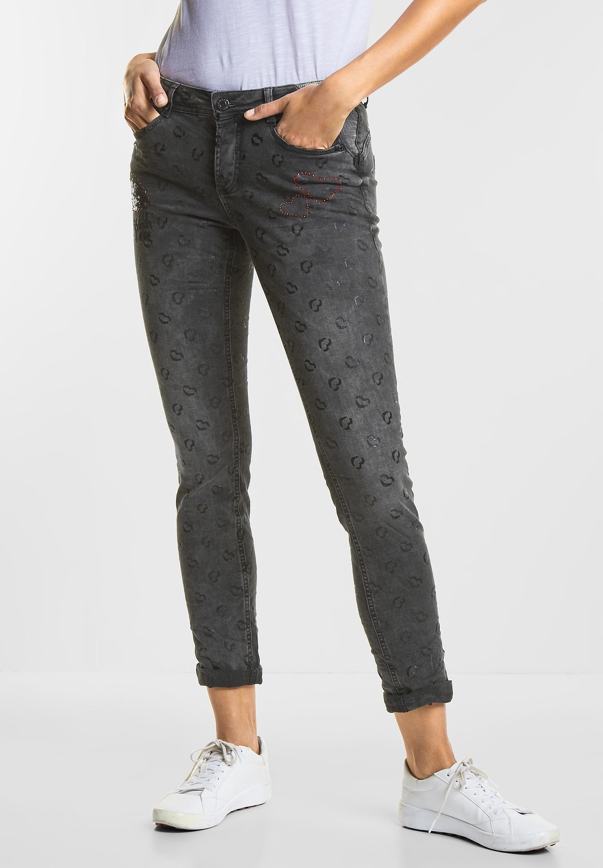 STREET ONE Loose fit Jeans, Casual Fit Denim Jane mit allover Print online kaufen | OTTO