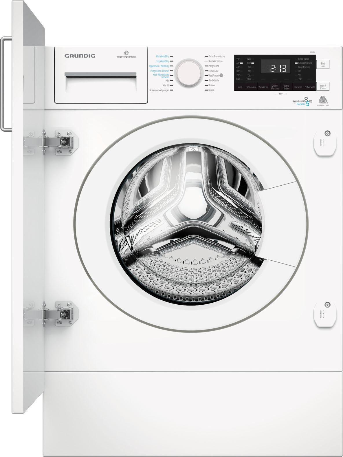 Grundig Einbauwaschtrockner, 8 kg/5 kg, 1400 U/Min