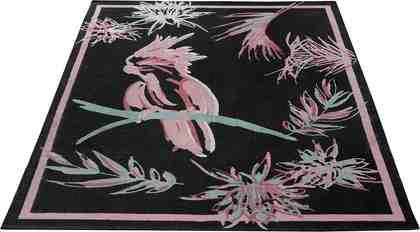 Teppich »Kakadu«, Guido Maria Kretschmer Home&Living, rechteckig, Höhe 3 mm, Reine Baumwolle