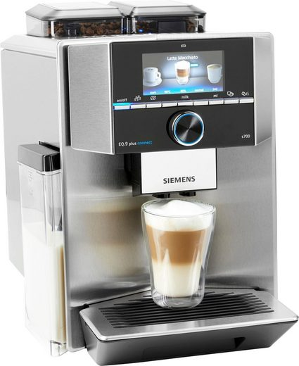 SIEMENS Kaffeevollautomat EQ.9 plus connect s700 TI9575X1DE, individualCoffee System, Home Connect App. Zwei Bohnenbehälter.