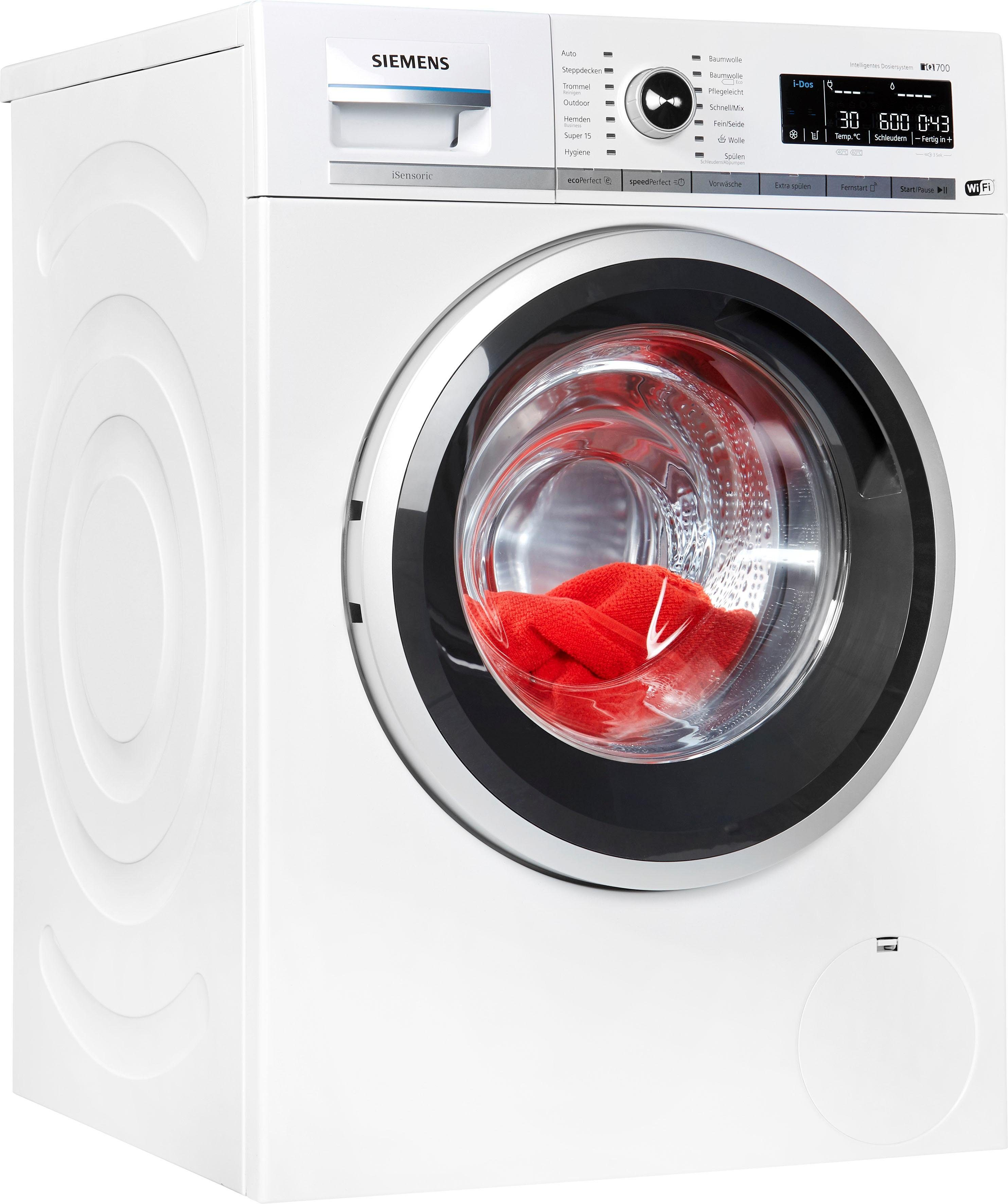 SIEMENS Waschmaschine iQ700 WM4WH640, 8 kg, 1400 U/Min
