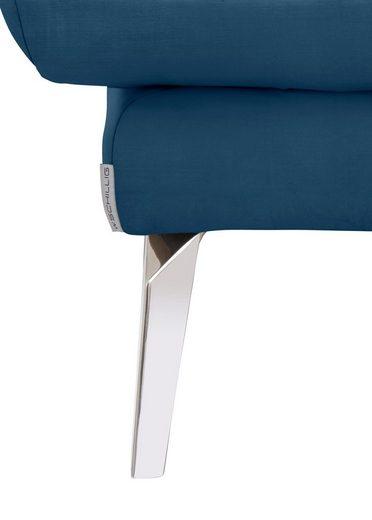 W.SCHILLIG Hocker »softy«  mit dekorativer Heftung im Sitz  Füße Chrom glänzend