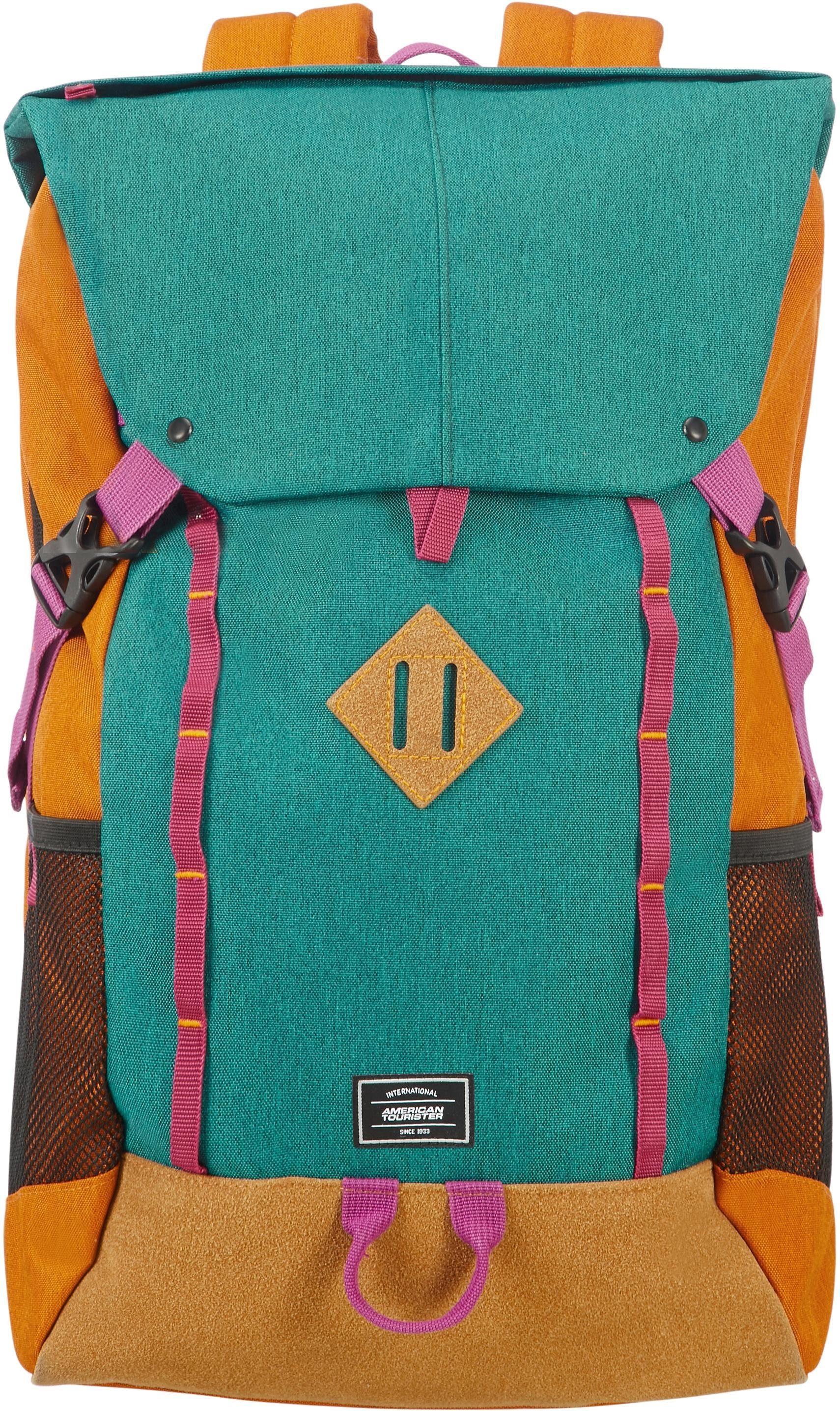 American Tourister Rucksack mit Laptopfach, »Urban Groove UG5 17.3 Zoll, Green/Orange«