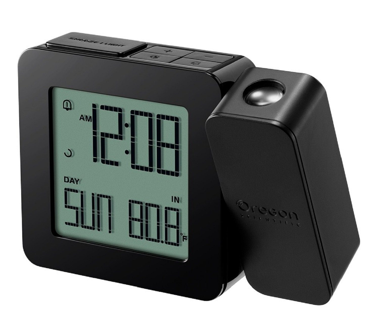 OREGON SCIENTIFIC Projektionsuhr »funkgesteuert mit Innentemperatur - schwarz«