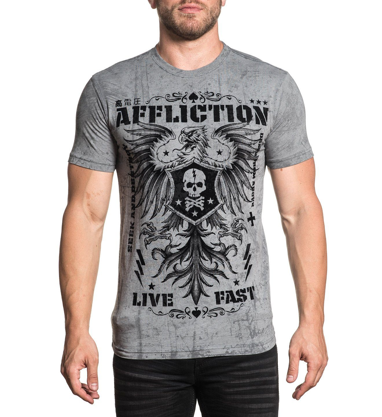 Affliction T-Shirt mit stylischem Print