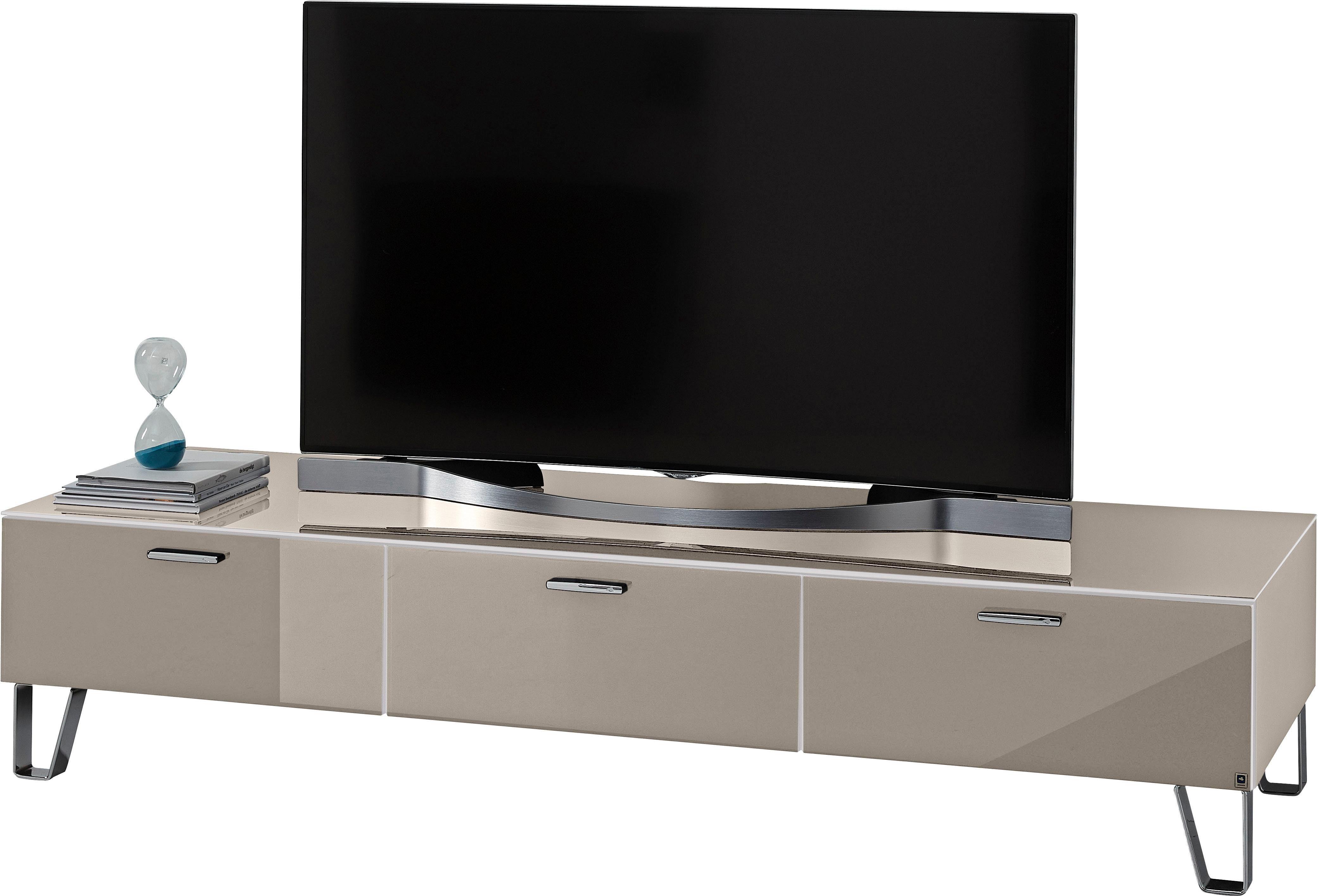 LEONARDO Lowboard »CUBE«, auf Designfüßen, mit 3 Schubladen, Breite 189 cm online kaufen | OTTO