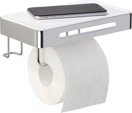 WENKO Toilettenpapierhalter »Premium Plus«, mit Ablage