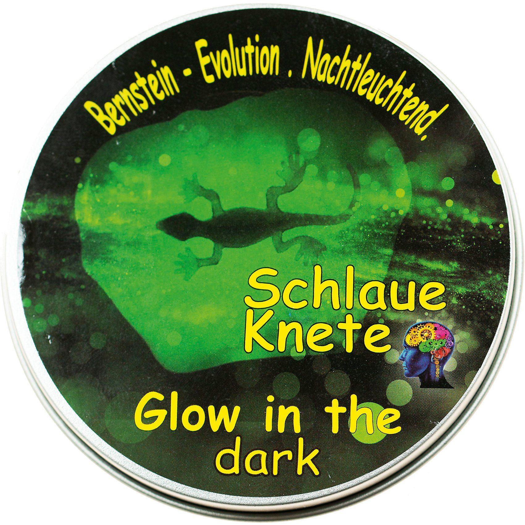 Schlaue Knete Leuchtet im Dunkeln, 50 g Metalldose