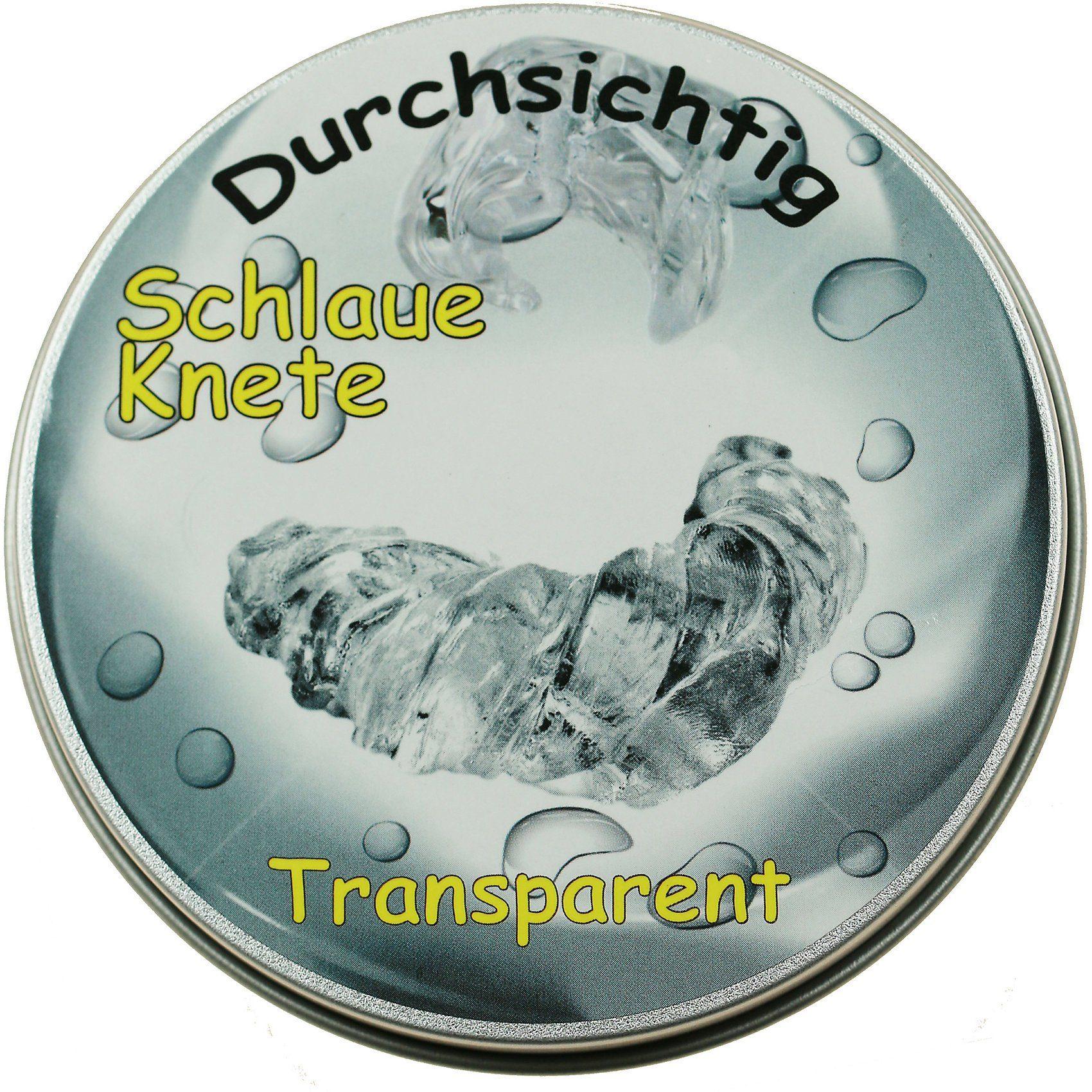 Schlaue Knete transparent, 50 g Metalldose