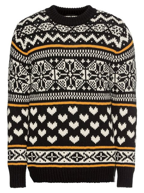 Scotch & Soda Norwegerpullover »Chunky pullover with fair isle intarsia patterns« | Bekleidung > Pullover > Norwegerpullover | Weiß | Scotch & Soda