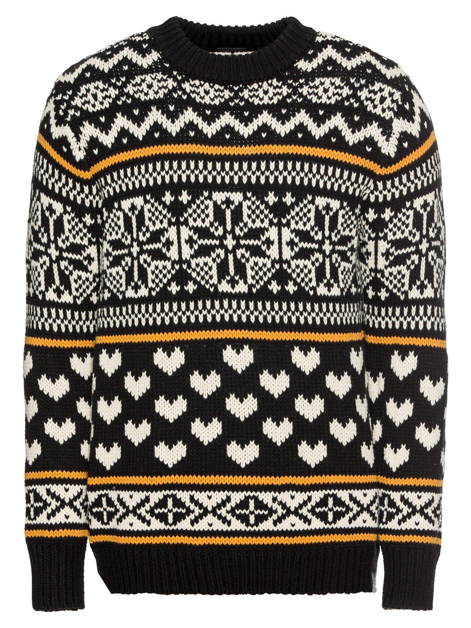 Scotch & Soda Norwegerpullover »Chunky pullover with fair isle intarsia patterns«