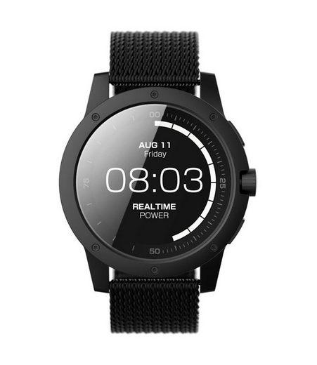 Matrix Industries Smartwatch, ohne Aufladen, mit Milanese-Armband »PowerWatch Black Ops«