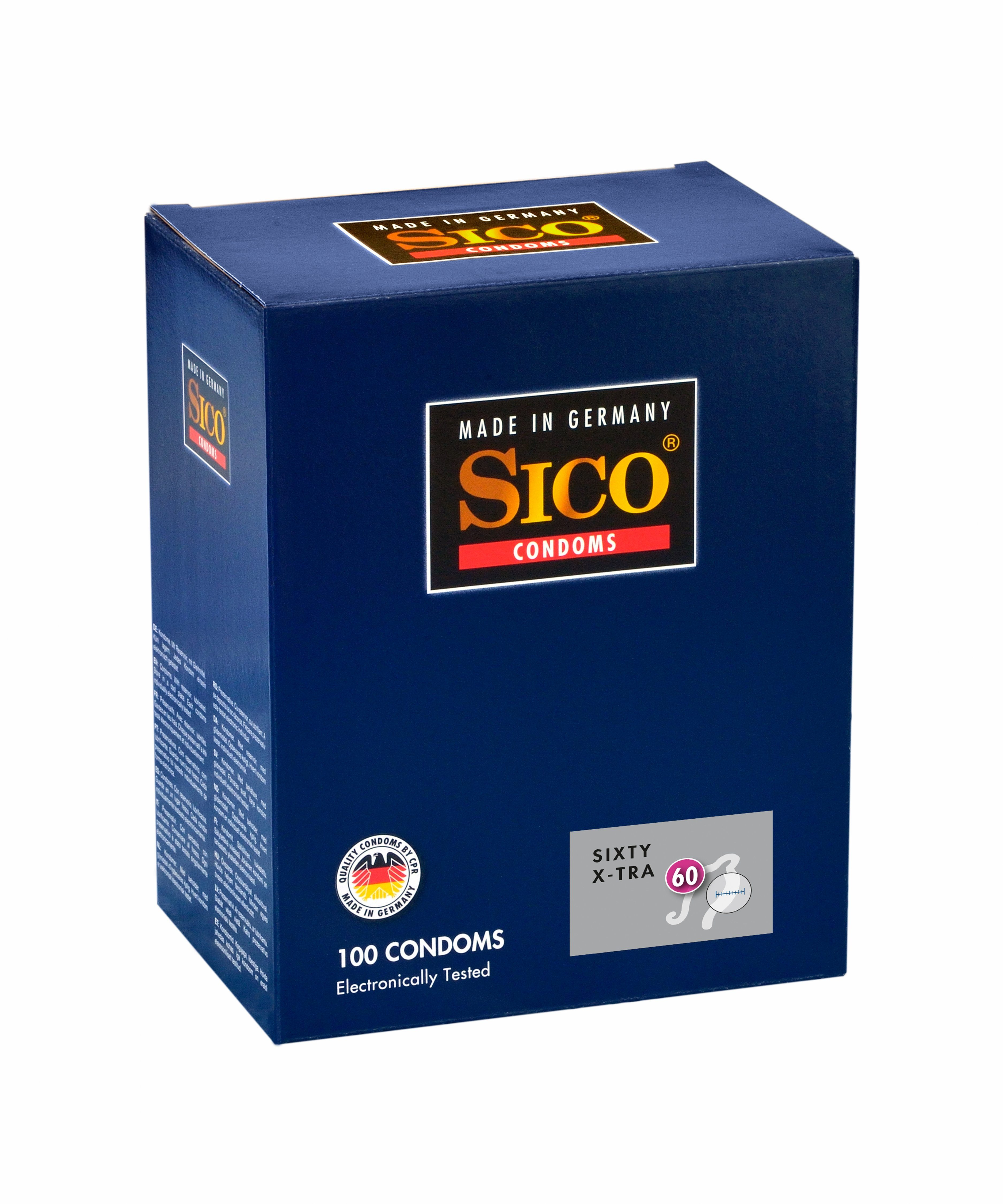 SICO Size X-tra Kondome made in Germany »Size X-tra 60, 100er Box«