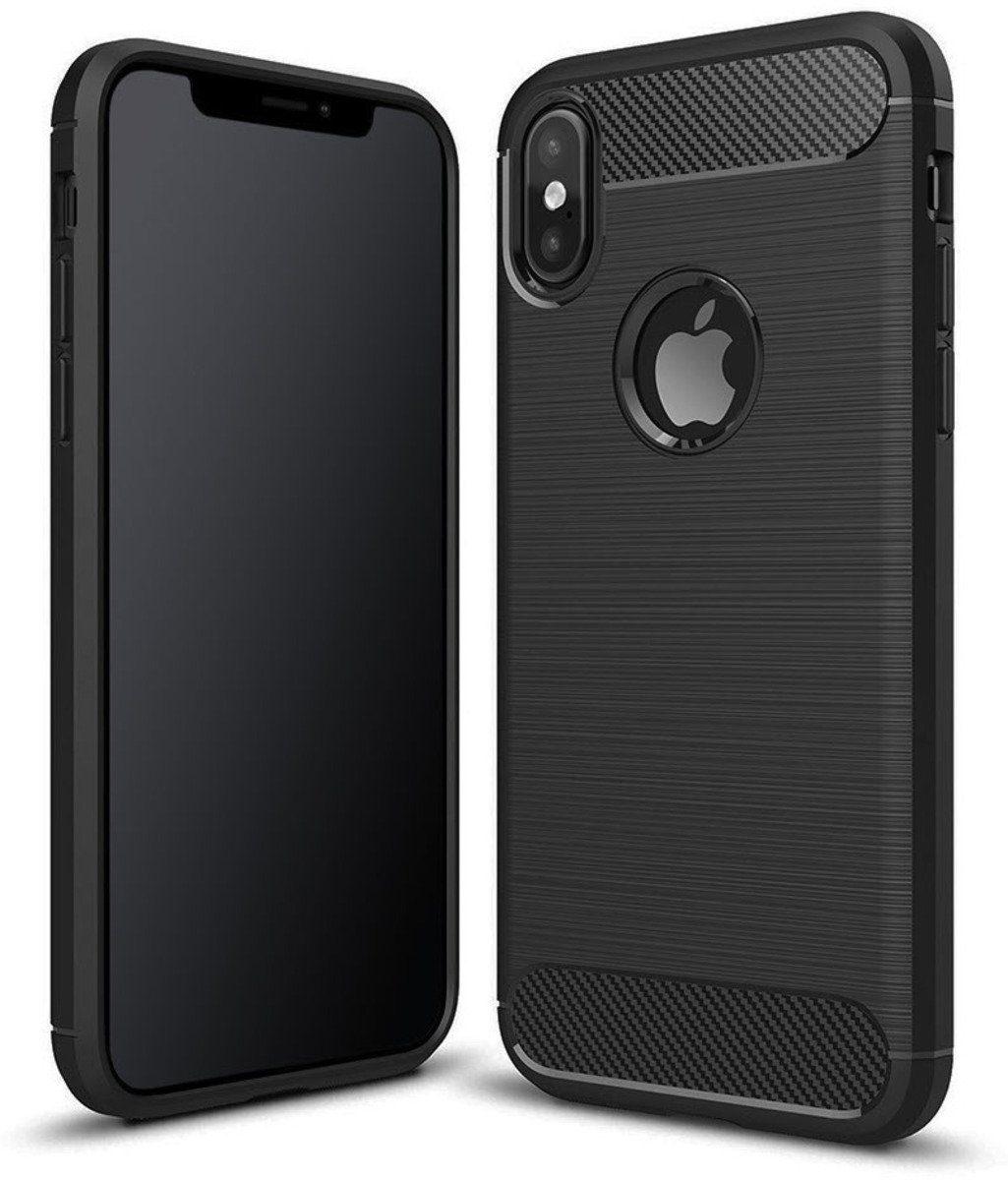 PEDEA Handytasche »Carbon Look Case für iPhone XS Max«