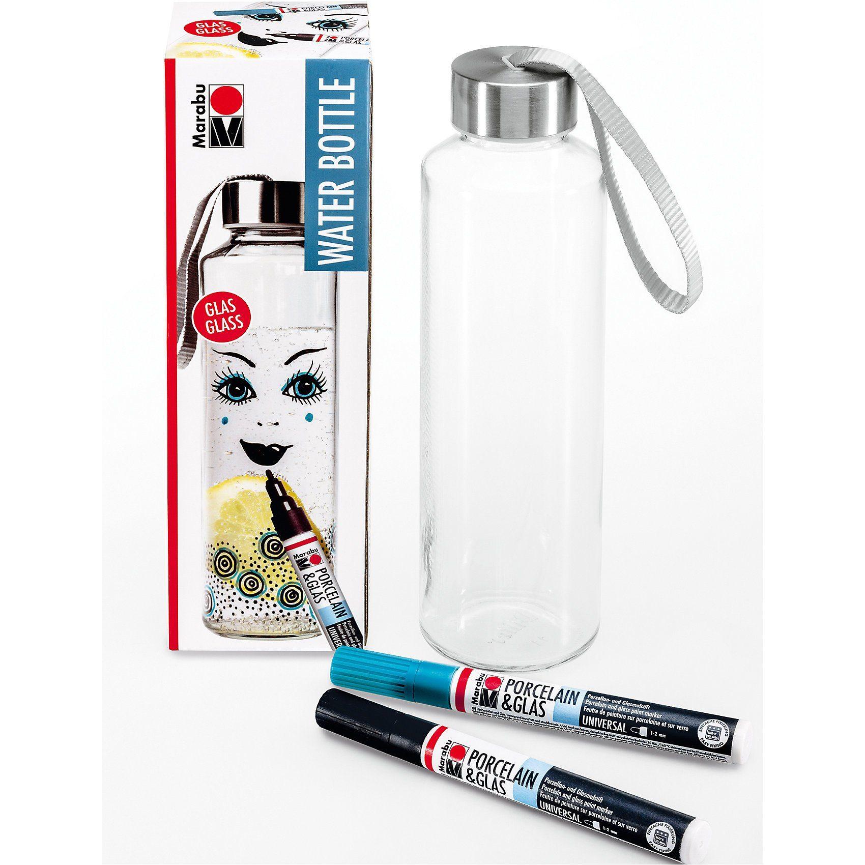 Marabu Porzellan- & Glasfarben-Set Wasserflasche