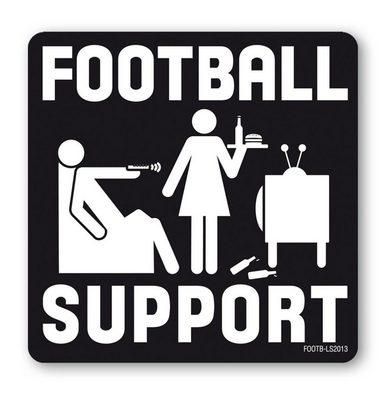 LOGOSHIRT Untersetzer mit Football Support – Partnerschaft und Ehe Motiv