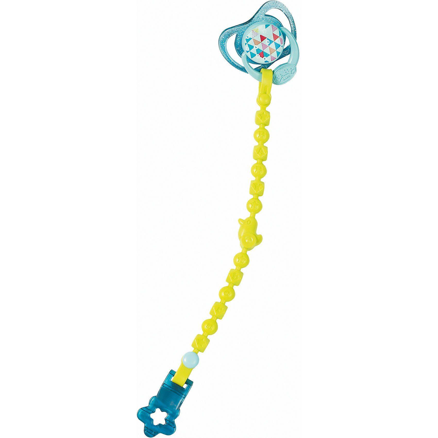 Zapf Creation® BABY born® Schnuller mit Schnullerkette Blau