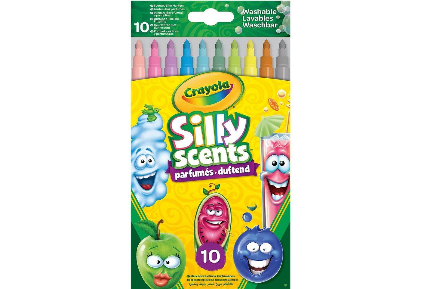 Crayola® 10 Silly Scents Duftende Fineline Filzstifte