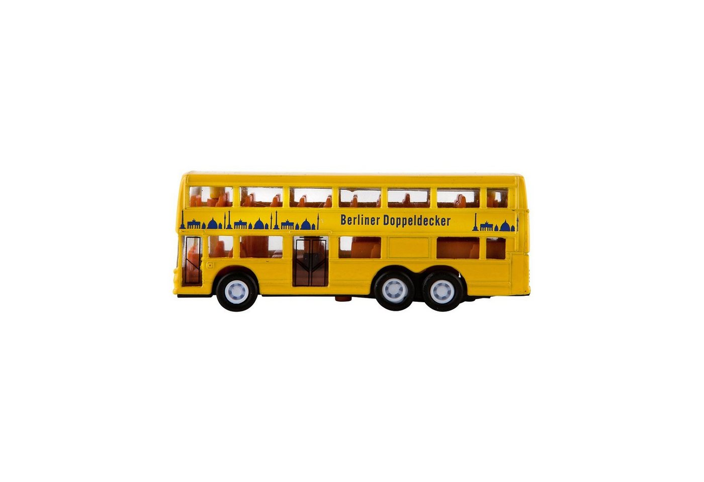 Idena Berlin-Bus klein mit Freilauf, ca.10cm