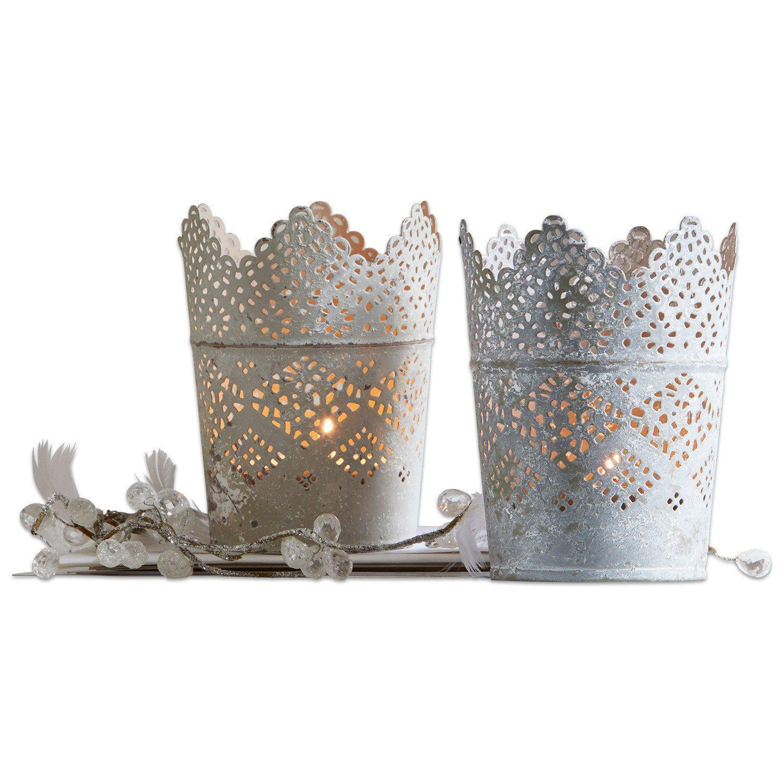 Loberon Windlicht 2er Set »Crown«