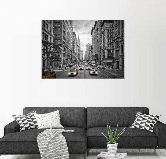 Posterlounge Wandbild - Melanie Viola »NYC 5th Avenue Verkehr«