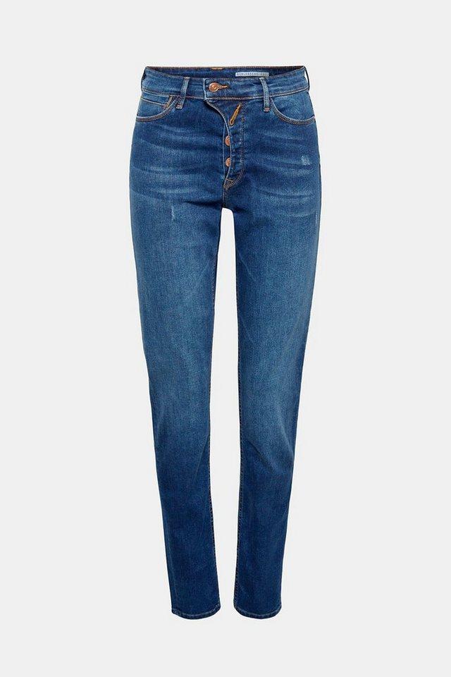 edc by Esprit Stretch-Jeans mit asymmetrischer Knopfleiste