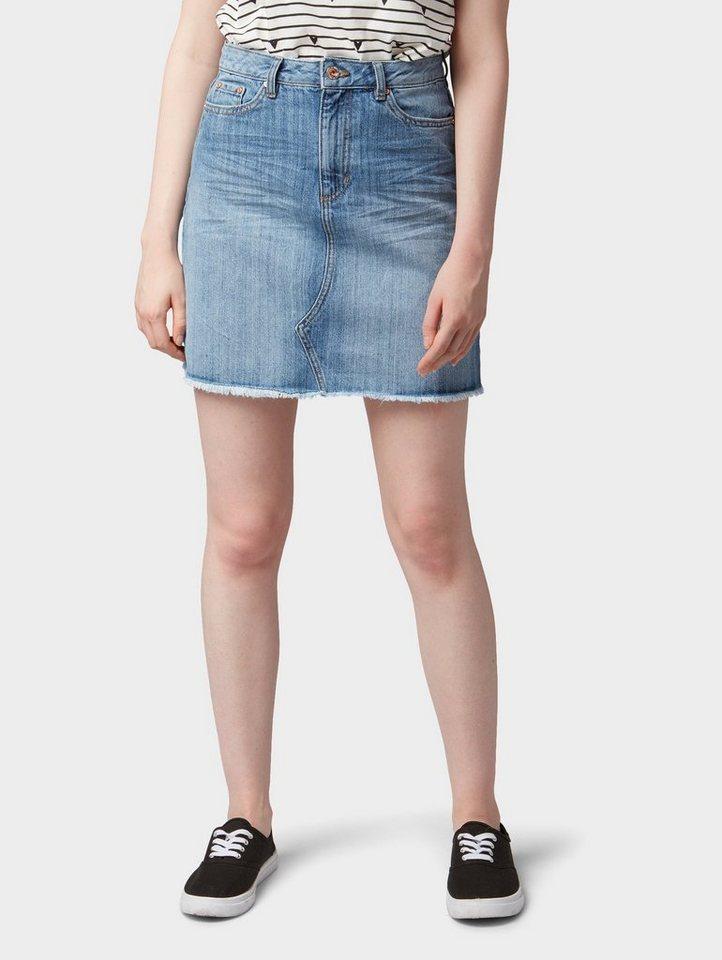 ccf0cee89b2c Tom Tailor Denim Jeansrock »Jeans-Rock mit Fransen« online kaufen   OTTO