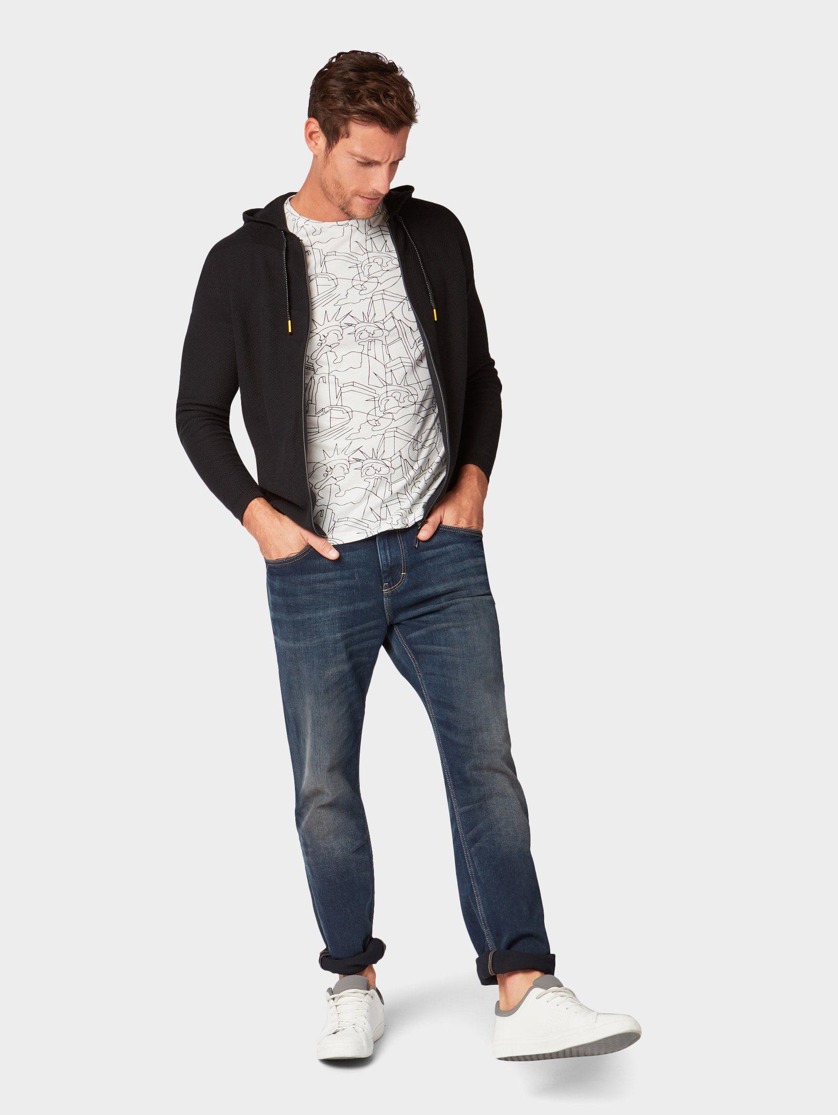 Cardigan Tom Mit Struktur« Tailor »strickjacke 8kn0OPw