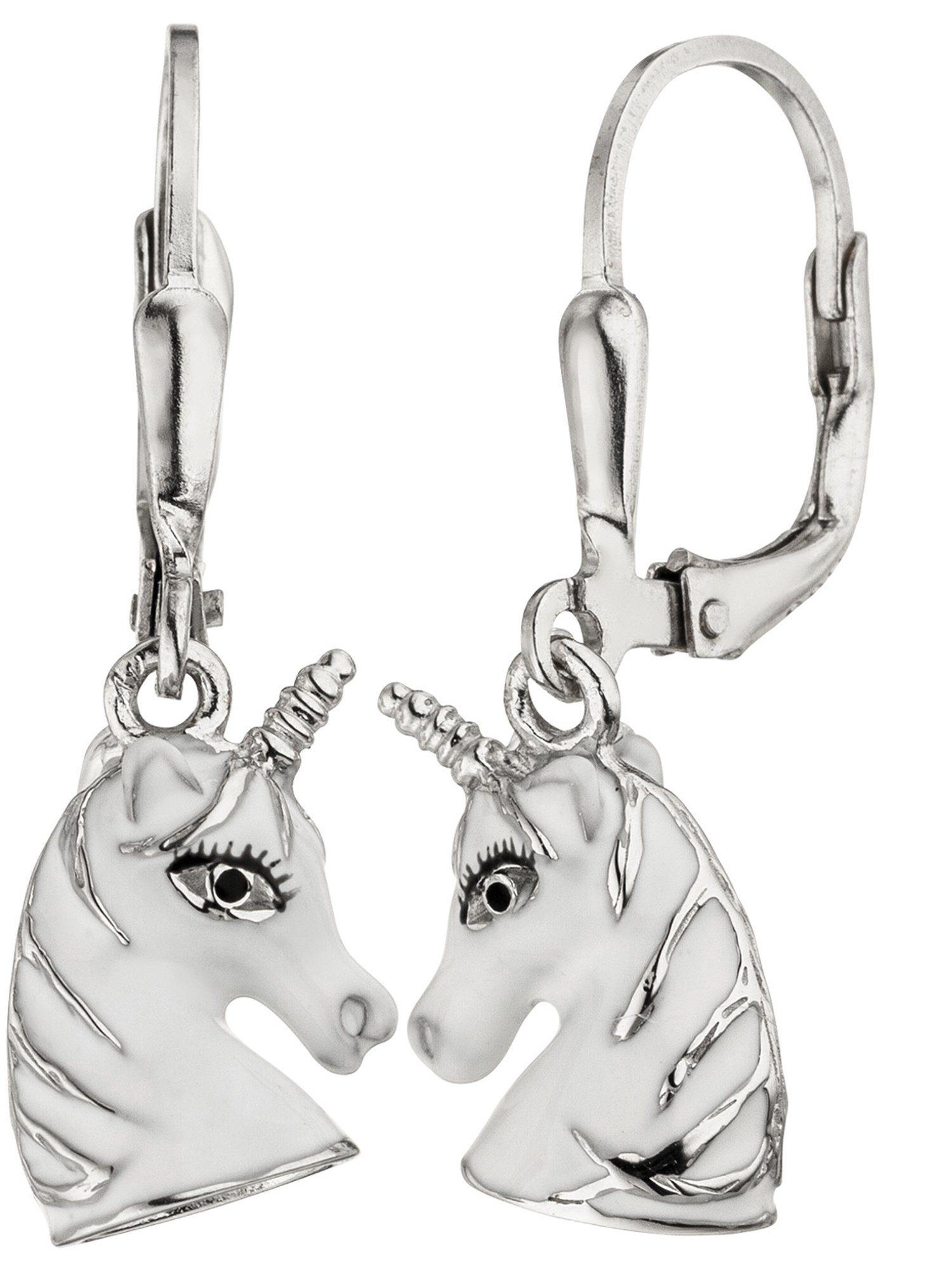 Adelia´s Paar Ohrhänger »Einhorn« 925 Silber