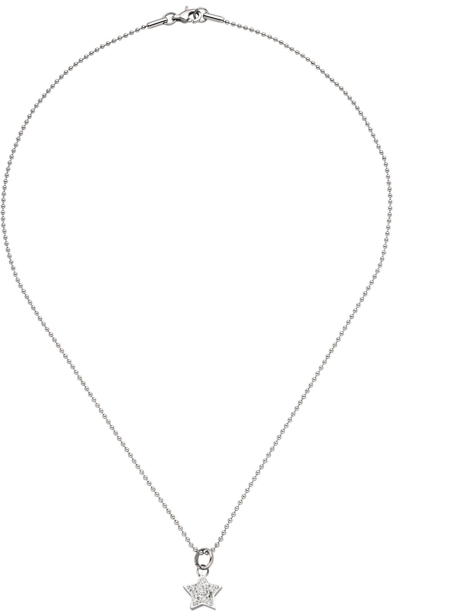 Adelia´s Kettenanhänger »Stern« Edelstahl mit Kristall - 45 cm