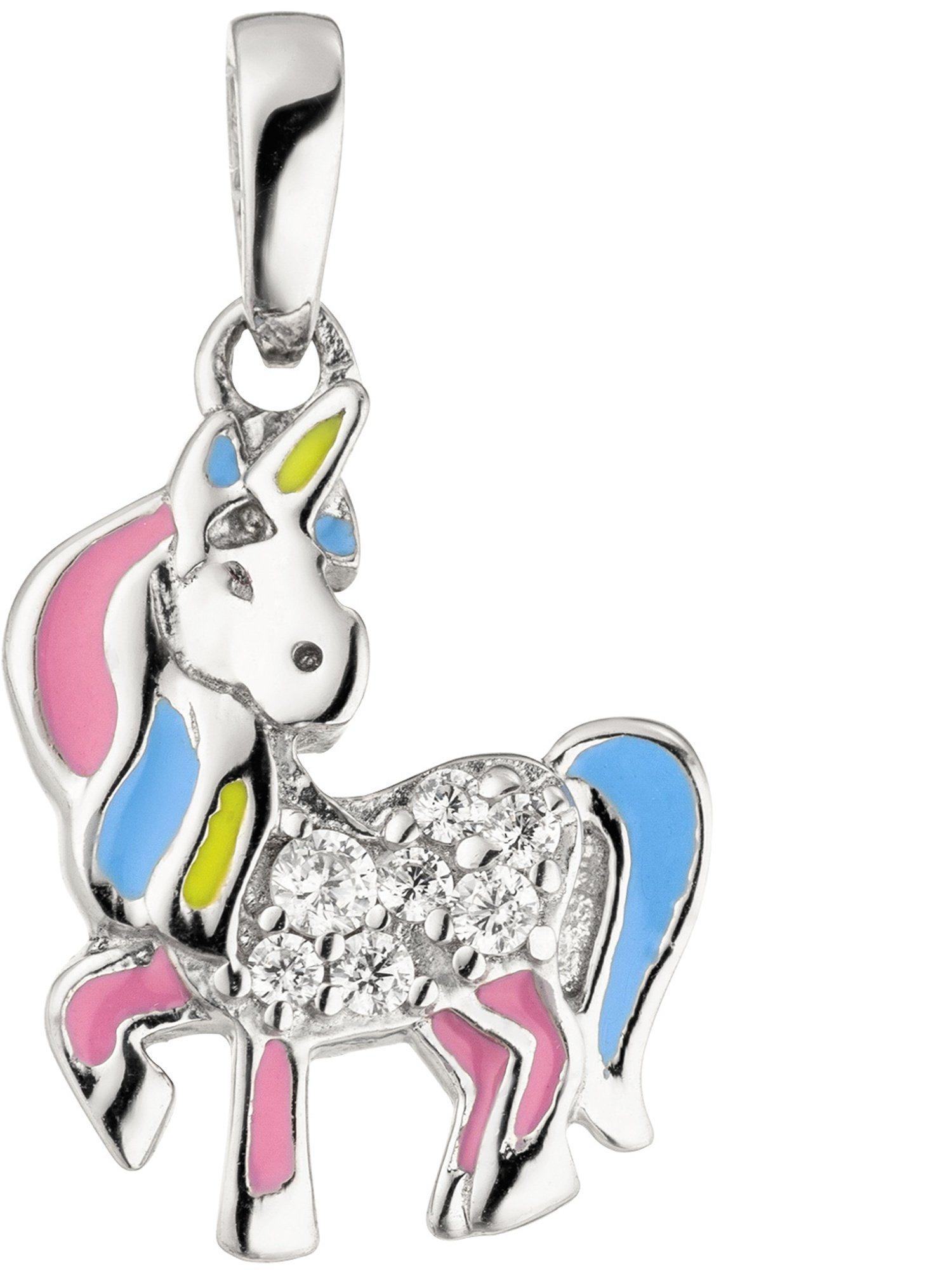 Adelia´s Kettenanhänger »Einhorn« 925 Silber mit Zirkonia | Schmuck > Halsketten > Ketten ohne Anhänger | Adelia´s