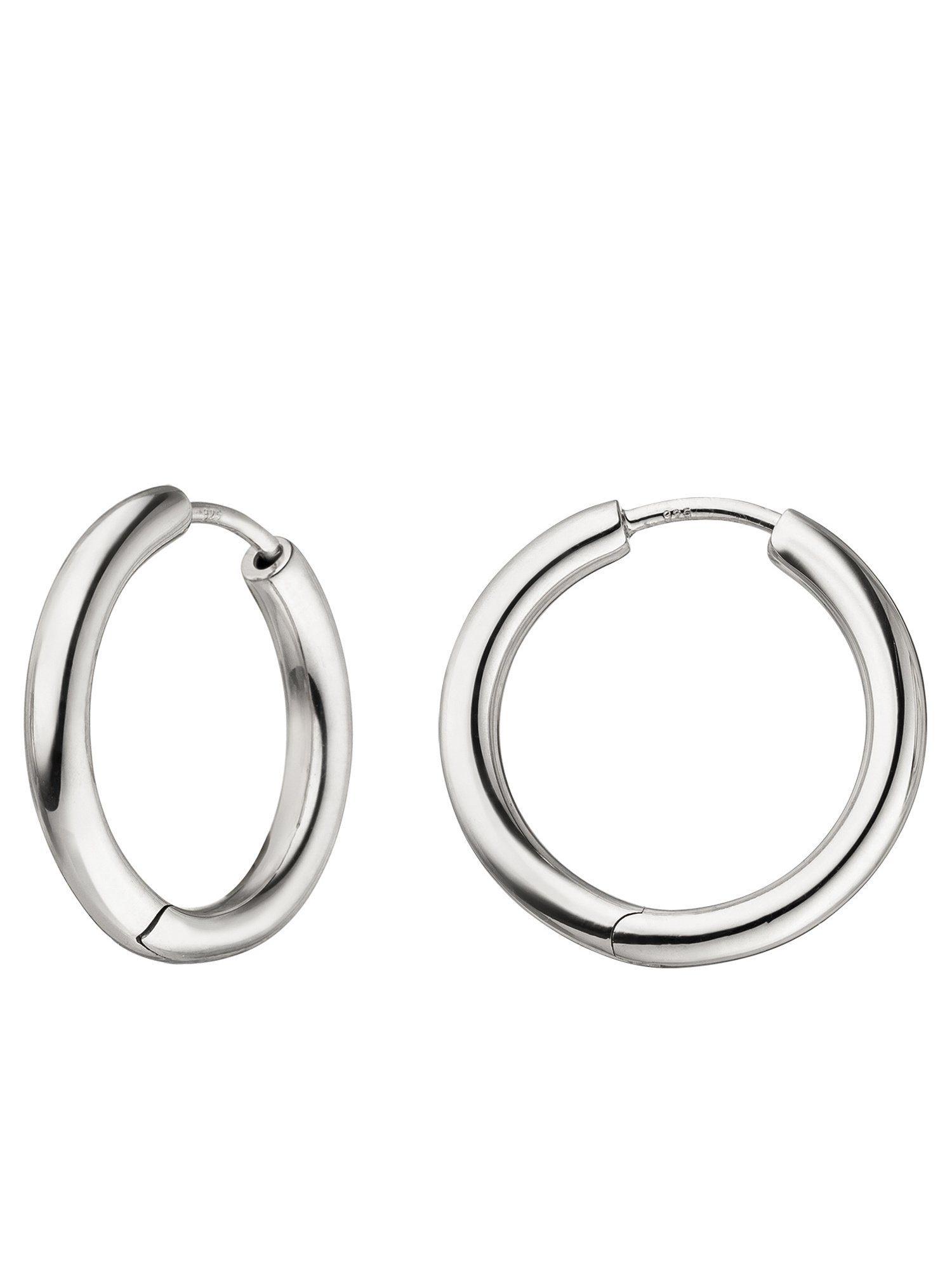 Adelia´s Paar Creolen 925 Silber Ø 2.08 mm