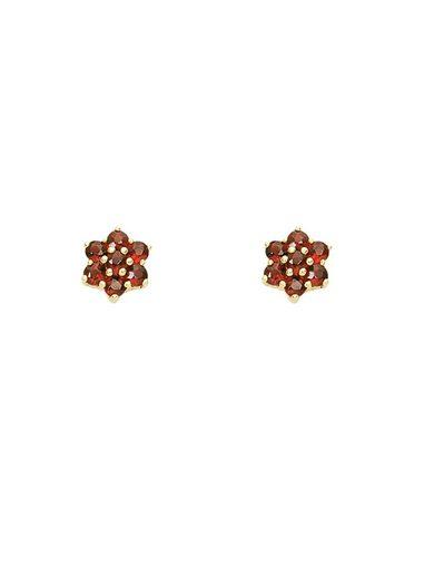 Adelia´s Paar Ohrstecker »Gold 8 k (333) Granat Ohrstecker«, 8 k 333 Gelbgold mit Granat