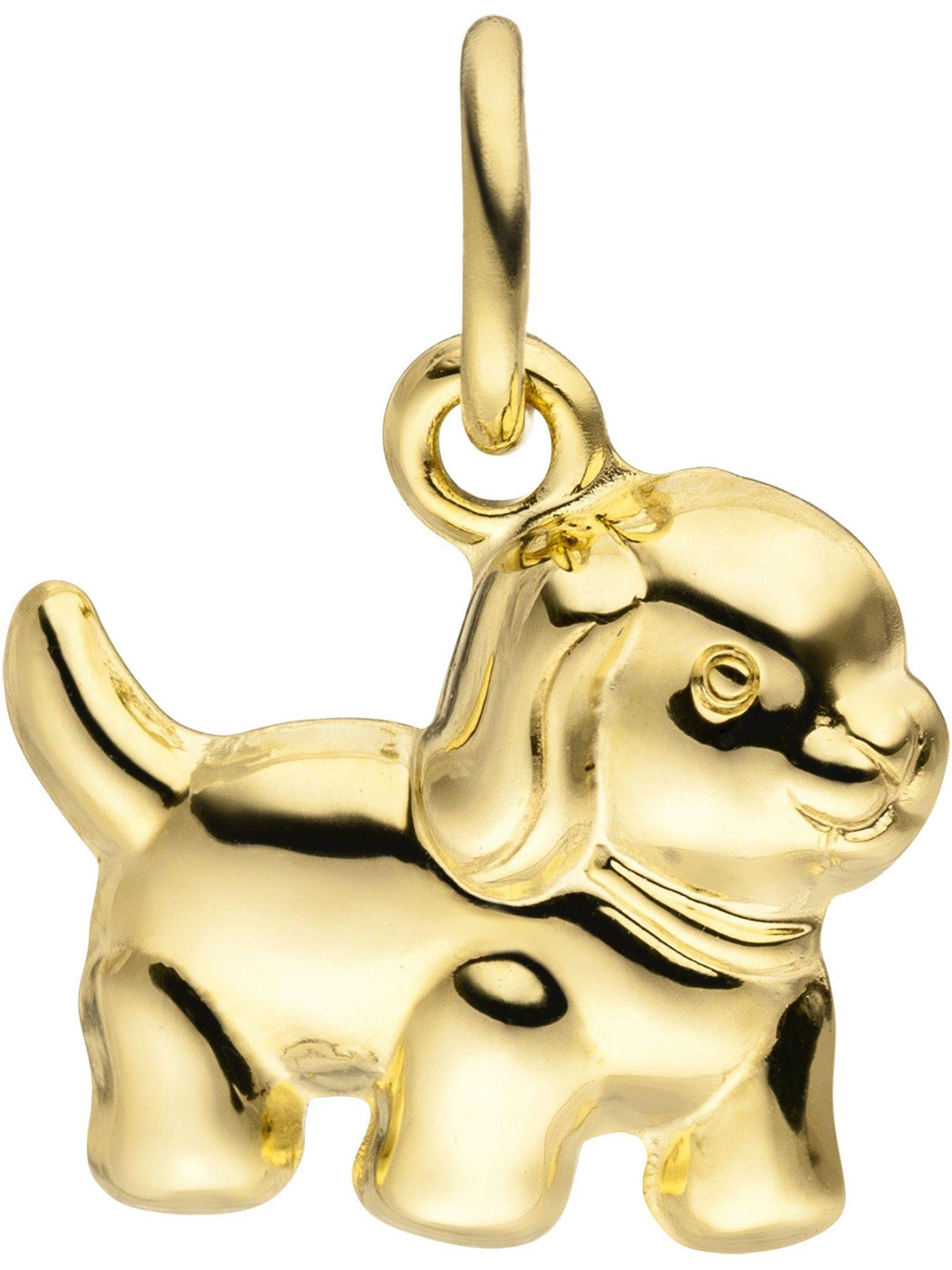Adelia´s Kettenanhänger »Hund« 333 Gold